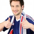 Stock Photo: French football fan