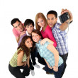 Stock Photo: Group of young photographing