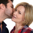 Man whispering - Stock Photo