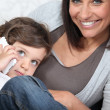 Woman spending time with her child — Stock Photo