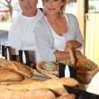 Stock Photo: Couple at local market