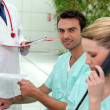Receptionists in a clinic — Stock Photo #7664405