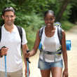 Couple hiking - Stock Photo