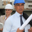 Engineers on a construction site — Stock Photo #7665226