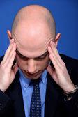 Stressed bald man — Stock Photo