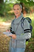 Man on a hike — Stock Photo