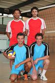 Volejbalový tým — Stock fotografie