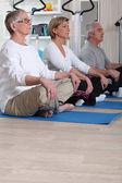 Yoga cursus — Stockfoto