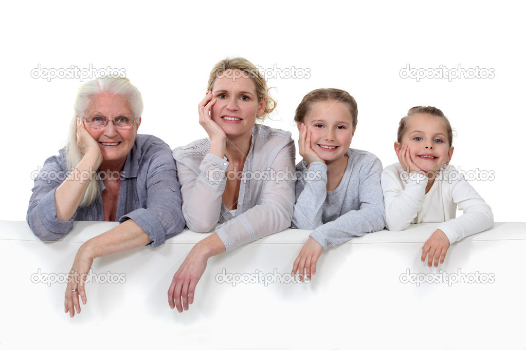 Family portrait  Stock Photo #7662884