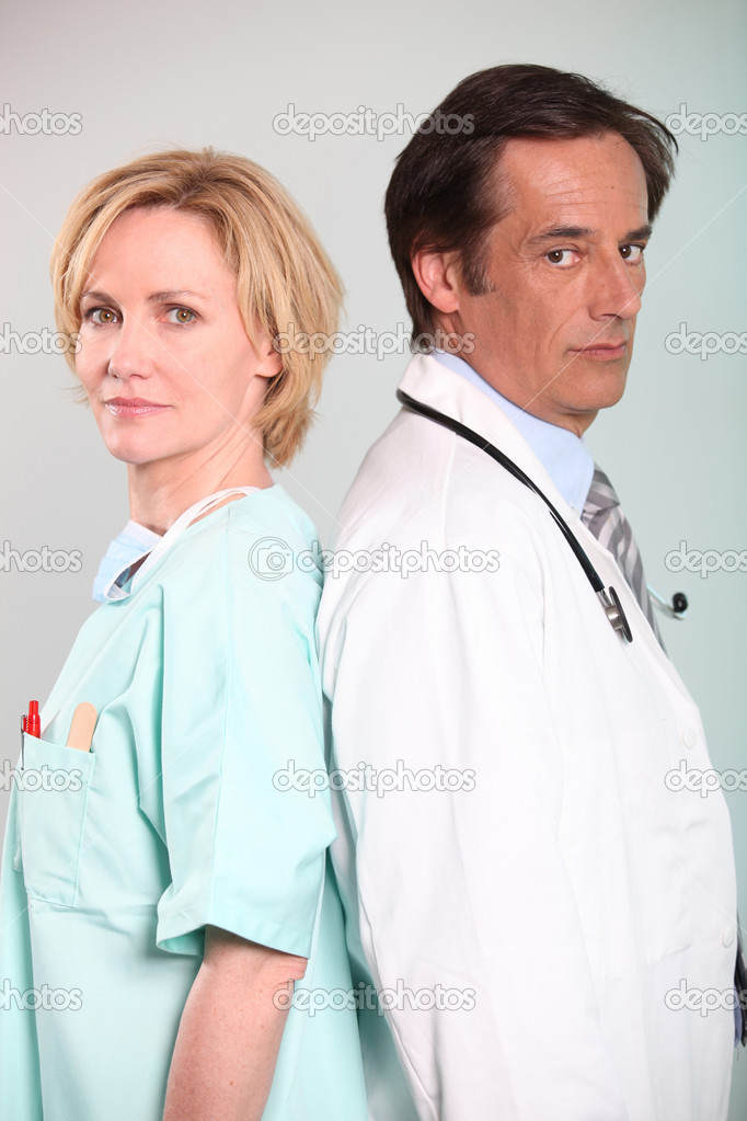 Nurse and doctor — Stock Photo #7664559