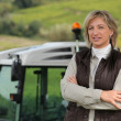 Stock Photo: Female farmer