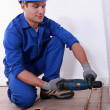 Plumber drilling — Stock Photo #7673376
