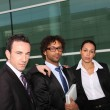 Stock Photo: Serious united business team