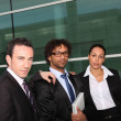 Royalty-Free Stock Photo: Serious united business team