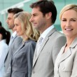 Woman in business team — Stock Photo