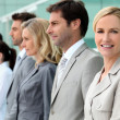 Stock Photo: Woman in business team