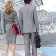 Royalty-Free Stock Photo: Man and woman at the airport