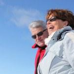 Senior couple wearing warm clothes — Stock Photo #7676630