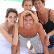 Royalty-Free Stock Photo: Family at the beach together