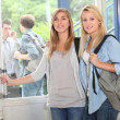 Girls at school — Stockfoto