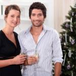 Couple celebrating Christmas — Stock Photo #7677385