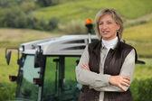 женщина-фермер — Стоковое фото
