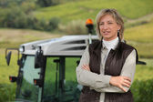 Female farmer — Foto Stock