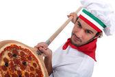 Chef de pizza — Foto Stock