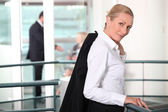 Portrait of a businesswoman in a hall — Stock Photo