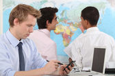Businessmen working on a project. — Stock Photo