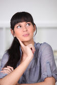 Young woman wondering — Stock Photo