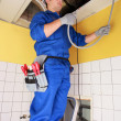 Stock Photo: Electriciwiring building