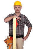 Woodworker posing — Stock Photo