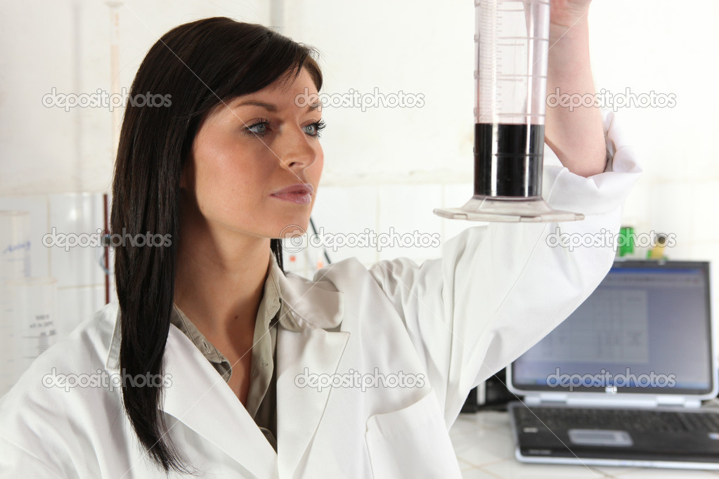 Female scientist  Stock Photo #7691449