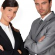 Confident business couple — Stock Photo #7703520