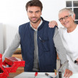 Young man assisting old lady — Stock Photo #7708547