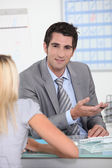 Bank manager — Stock Photo