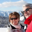 Royalty-Free Stock Photo: Mature ski couple