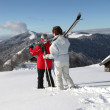 Old couple skiing — Stock Photo #7710216