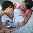 Couple in tent — Stock Photo #7710843