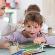 Little girl at preschool — Stock Photo