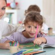 Little girl at preschool — Stock Photo #7711873