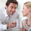 Royalty-Free Stock Photo: Couple drinking champagne together