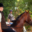 Stock Photo: Horseback rider
