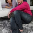 Relaxed couple at home — Stock fotografie #7713568