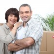 Stock Photo: Couple moving in