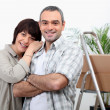 Couple moving house — Stock Photo