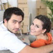 Newlyweds moving in together — Stock Photo #7713822