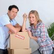 Couple moving - Stock Photo