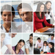Collage of at work — Stock Photo